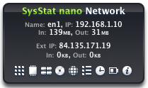SysStat nano Network