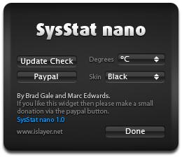 SysStat nano Options