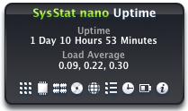 SysStat nano Uptime